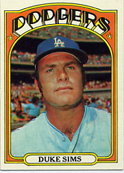 1972 Topps Baseball Cards      063      Duke Sims